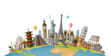 Travel, Journey Concept. Famou...
