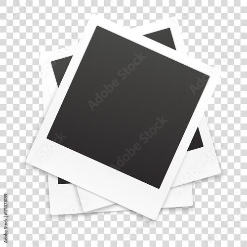 Obraz Many retro photo frames isolated on transparent background - fototapety do salonu