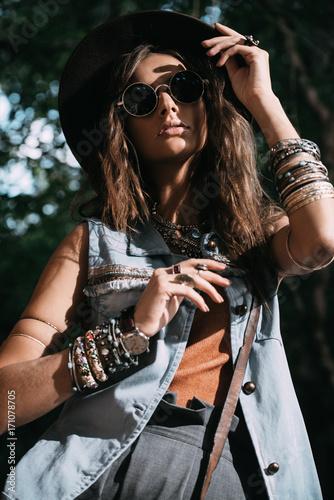 Poster Gypsy boho and denim style