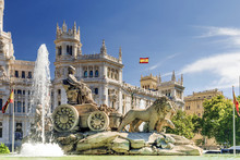 Fountain Of Cibeles In Madrid,...