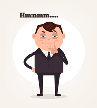 Office Worker Businessman Char...