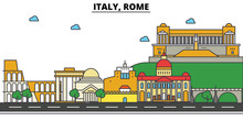 Italy, Rome. City Skyline: Arc...
