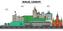 Wales, Cardiff. City Skyline: ...