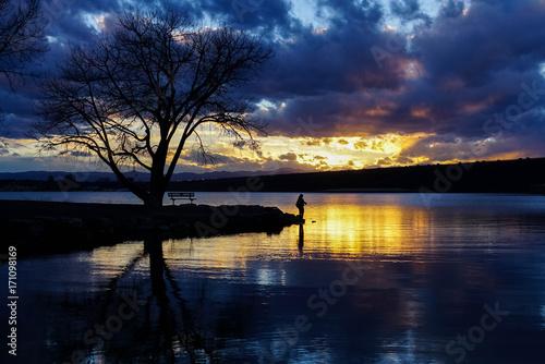 Photo  Cherry Creek State Park - Colorado Sunset