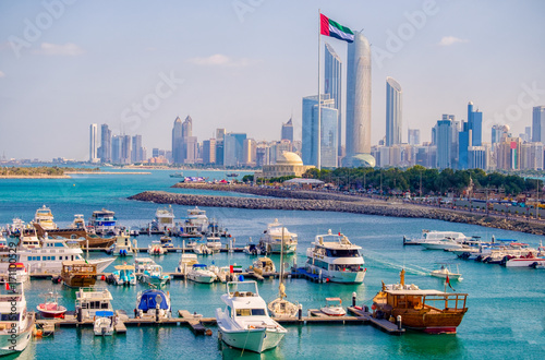 Canvas Prints Abu Dhabi Abu Dhabi Marina Aerial Shot