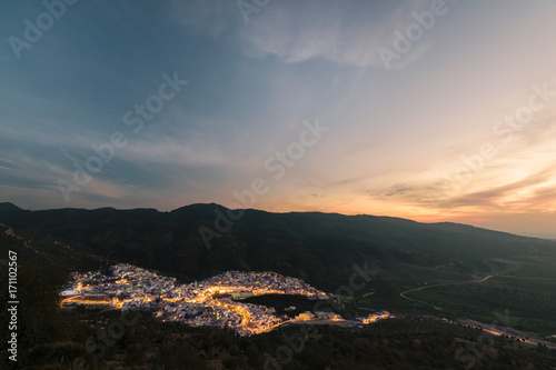 Staande foto Marokko Moulay Idris sunset, Morocco