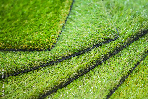 Green artificial turf Wallpaper Mural