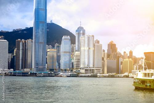 Photo  hong kong city view