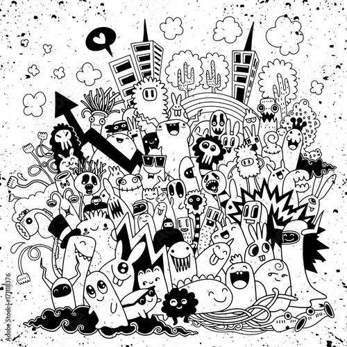 recznie-rysowane-ilustracji-wektorowych-doodle