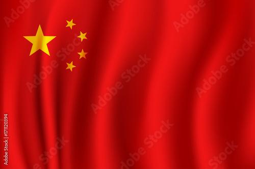 Plakat Flaga Chin w formacie 3d