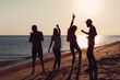 People dancing in summer