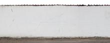 Long White Cracked Plastered W...