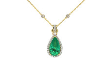 Emerald Chain  Necklace