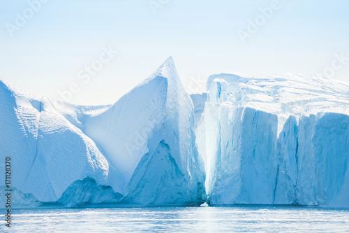 Ingelijste posters Antarctica Icebergs in Ilulissat, Greenland