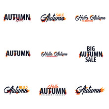 Autumn Fall Logo And Emblem. Vector Illustration.