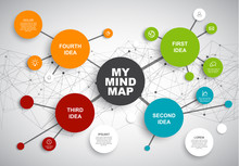 Vector Abstract Mind Map Infog...