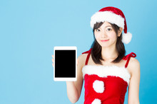 Portrait Of Asian Santa Woman ...