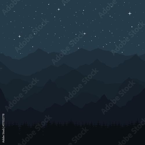 Fototapeta Seamless background with mountain peaks obraz na płótnie