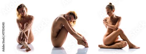 Deurstickers Akt Sexy naked blonde woman