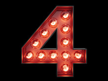 Light Bulb Digit Alphabet Char...