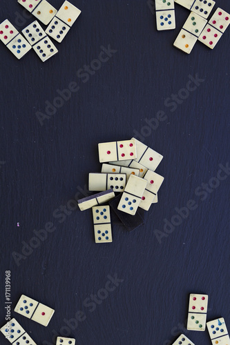 Old dominoes Canvas Print