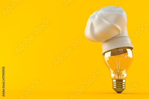 Canvas Print Light bulb with chef's hat