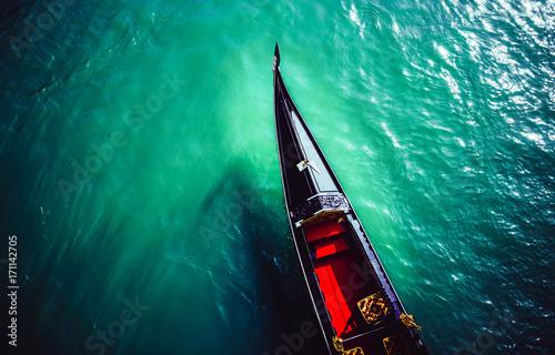 Spoed Foto op Canvas Gondolas Venezianisches Gondel LAND