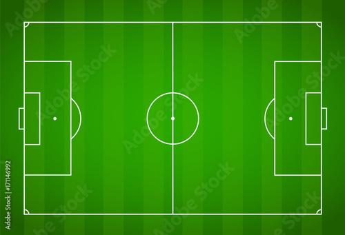 Obraz Green grass field background. Vector Football - Soccer Field - fototapety do salonu