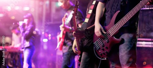 Guitarists on stage for background, soft focus and blur concept - 171149160