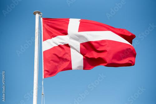 Denmark Flag Tapéta, Fotótapéta