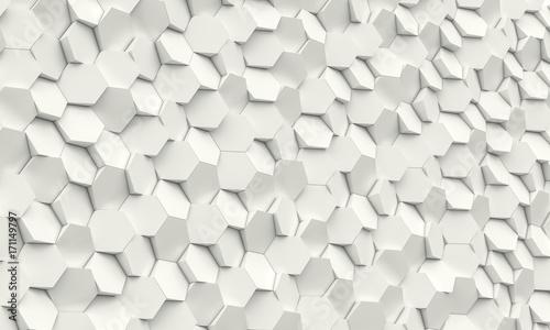 hexagon geometric background © tiero