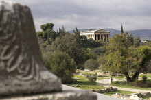 Hellenic Temple Of Hephaestus In Athens, Greece