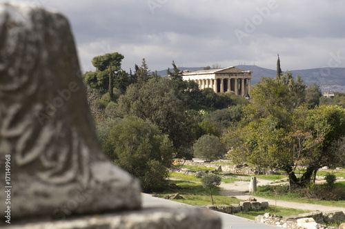 Photo  Hellenic Temple of Hephaestus in Athens, Greece