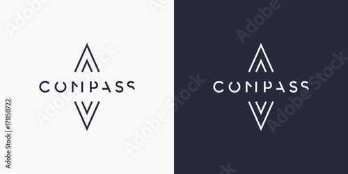 Fotografía  Minimalistic and stylish logo Compass, modern typography and identity for your company