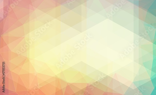 Pastel color background with triangle shapes