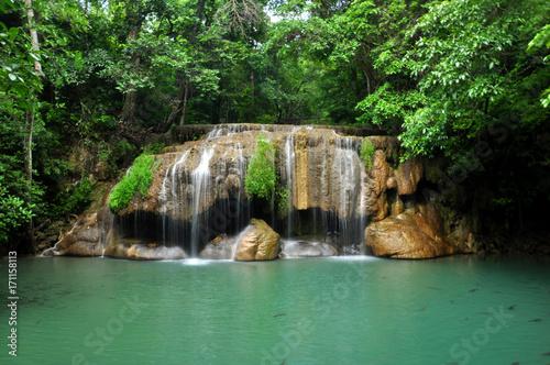 Fototapety, obrazy: Erawan waterfall - Kanchanaburi, Thailand