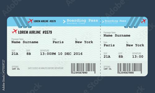 vector airplane ticket design template adobe stock でこのストック