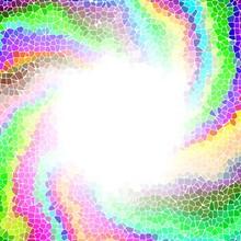 Twirl Colorful Mosaic Radial V...