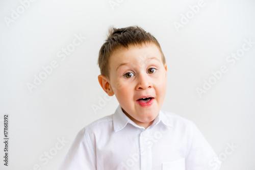 Fototapety, obrazy: Boy showing emotions