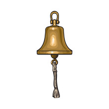Antique Brass, Copper Ship Bel...