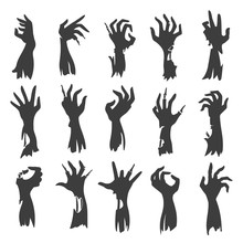 Undead Zombie Hand Silhouettes...