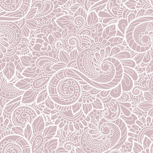 Seamless Pattern With Lace.  V...