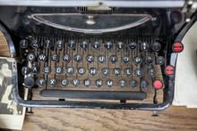 Original Vintage Typewriter Used In 1940's In Central Europe