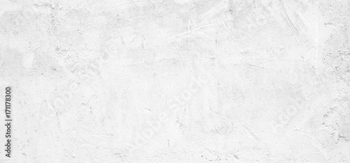 Staande foto Wand Blank white grunge cement wall texture background, banner, interior design background, banner