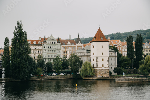 Photo  Vltava river in Prague, Czech Republic at the daytime