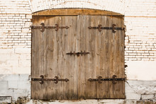 Aged Old Wooden Door With Lock...