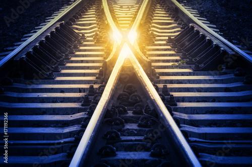 Fotoposter Spoorlijn Change Concept
