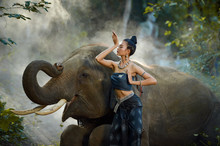 Woman In Traditional Thai Clot...