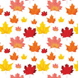 Seamless Autumn Leaves Background Pattern in Vector