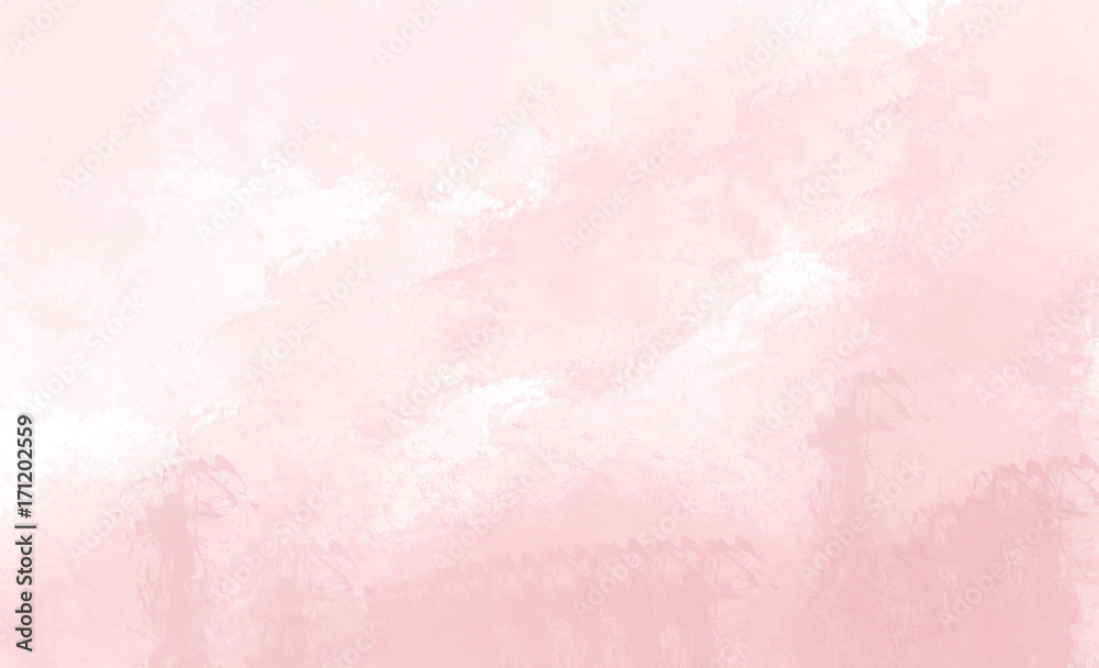 Fototapety, obrazy: Pink watercolor background. Digital drawing.